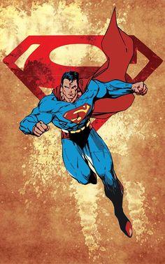 Superman 11x17 Poster - fun decor idea