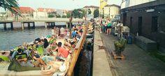 Kayakbar sommerdag Floating Garden, Street View, Gardens, Outdoor Gardens, Garden, Yards, Formal Gardens
