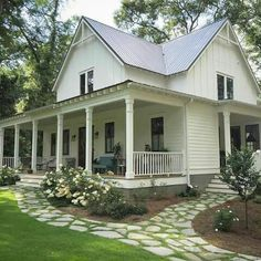 Yes! A Deep, wrap-around porch. So lovely!