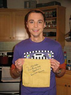 """Live long and Prosper"" signed Leonard Nemoy. A very happy Sheldon on ""The Bath Item Hypothesis"""