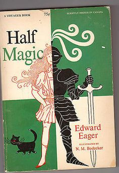HALF MAGIC by Edward Eager Vintage Voyager Softcover 1954 Edition