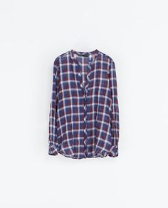 CHECKED BLOUSE - Shirts - Woman | ZARA Greece