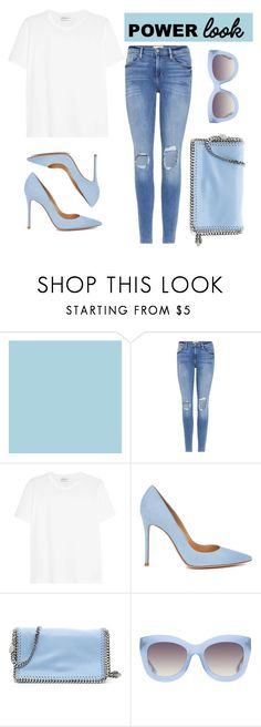 """""""Untitled #334"""" by rebecky89 ❤ liked on Polyvore featuring Frame, Yves Saint Laurent, Gianvito Rossi, STELLA McCARTNEY and Alice + Olivia"""