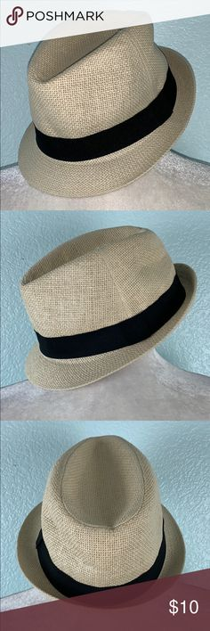7cac35cb784f2 H M Straw Fedora Hat Black Ribbon NWOT New without tags. Straw fedora hat  with a black ribbon. H M Accessories Hats