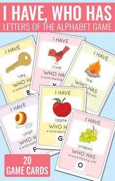 I Have Who Has Alphabet Game - Alphabet Cards