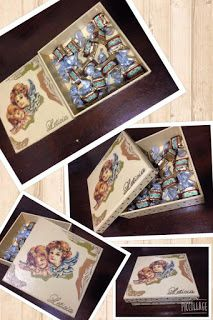 Caja decorada con servilleta decoupage
