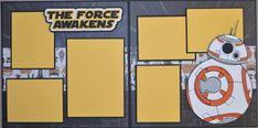 Disney Star Wars BB-8 2-Page 12x12 Scrapbook Page KIT
