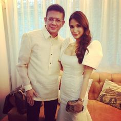 Senator Chiz Escudero and Heart Evangelista pose for a photo before heading to the Batasang Pambansa for the 2013 SONA. Photo from Evangelista's Instagram page