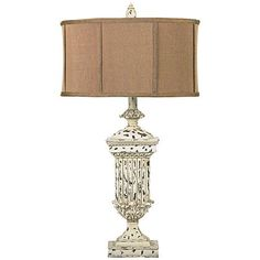 Dimond Morgan Hill White Distressed Table Lamp