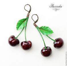 как слепить вишни урок, вишни в подарок, вишенки своими руками