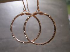 Hammered Copper Earrings (2-119)