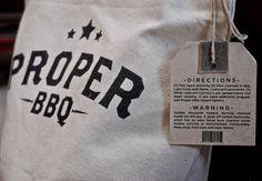 Proper BBQ, design by Thomas Hayes Logo Branding, Branding Design, Truck Names, O Design, Graphic Design Typography, Graphic Illustration, Hand Lettering, Design Inspiration, Bbq Invite