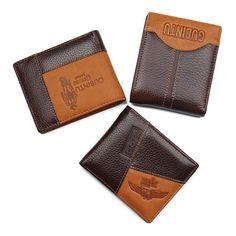 Gubintu Men's Geniune Leather Wallet with Zipper Coin Pocket 5 Styles Leather Men, Leather Wallet, Luxury Branding, Coins, Coin Purse, Card Holder, Zipper, Pocket, Elegant