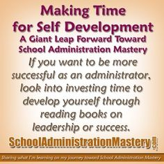 Making time for self-development