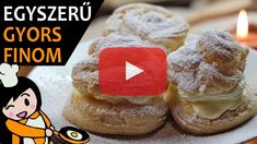 Cream puffs recipe with video. Detailed steps on how to prepare these easy and simple Cream puffs! Ready in: Make Your Own Cookbook, Cream Puff Recipe, Creamed Eggs, Cupcakes, Desert Recipes, Easy Desserts, Cake Recipes, Deserts, Cooking