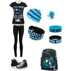 back to school (rocker/edgy/tomboy) style Tomboy Outfits rockeredgytomboy school Style Tomboy Outfits, Cute Emo Outfits, Scene Outfits, Punk Outfits, Tomboy Fashion, Teenager Outfits, Punk Fashion, Outfits For Teens, Teen Fashion