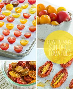 How To Make Sun-Dried Tomatoes | These take forever but are so delicious. Just fill up your oven with them, otherwise they won't last nearly long enough.