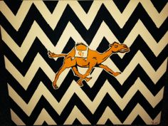 Campbell University Canvas #FighingCamels...I would do this in reverse...orange and white chevron with the camel logo in all black