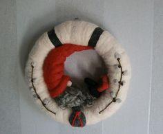 Needle felted wreath voor wintermarkten, schattig <3 More