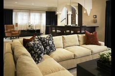 this sectional looks so comfy!