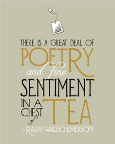 Tea Typography Print - Emerson Quote