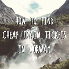 A guide to getting around Norway on trains without spending too much money. More travel tips on theartofcheaptravel.blogspot.com