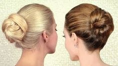 Elegant sleek bun updo inspired by Angelina Jolie | Long hair tutorial for work and special events, via YouTube.