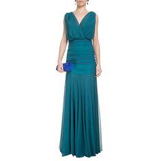 CANDY BROWN - Vestido longo Candy Brown tule - verde - OQVestir