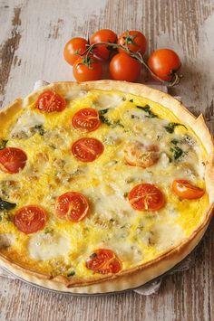 Tarta ze szpinakiem i serem gorgonzola. Thermomix przepisy