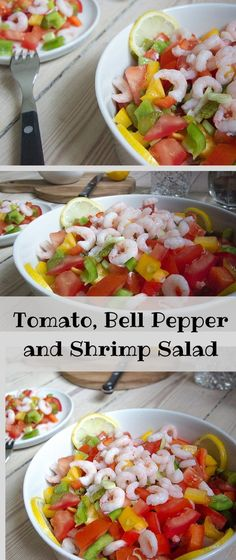 Refreshing and full of vitamins. This Tomato, Bell Pepper and Shrimp Salad is just amazingly easy and delicious.