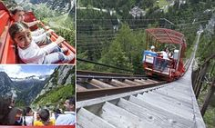 This is Europe's steepest funicular with a gradient of 106 per cent