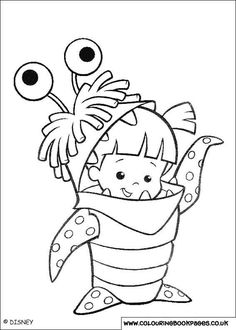 Monsters Inc University sully waving coloring page for kids ...