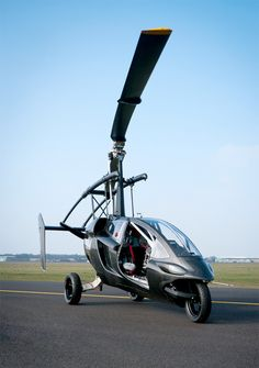 Gyroplane Car, not quite paragliding, but definitely personal flight!