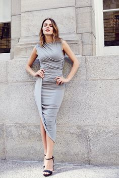 Fashion 365 days of looks ~ Maripier Morin Fashion And Beauty Tips, Style Challenge, Street Style, Stylish Girl, Fashion Dresses, Short Sleeve Dresses, Celebs, Style Inspiration, My Style