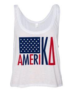 Kappa Delta America Crop Top by Adam Block Design   Custom Greek Apparel & Sorority Clothes   www.adamblockdesign.com