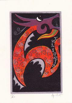 Ex libris by Chu Mei-Hui (邱美慧, Taiwan).
