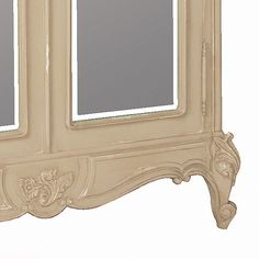 Normandy 2-Door Mirrored Shabby Chic Armoire (Image 4)