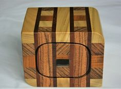 Exotic wood strip bandsaw trinket box £80.00 Bandsaw Box, Small Drawers, Black Felt, Trinket Boxes, Wood Crafts, Snug, Exotic, Beams, Black Fedora