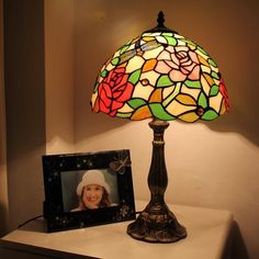 Attracted By Beauty Tiffany Bedside Lamp