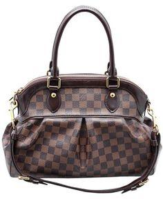 d86832f6985 Louis Vuitton Trevi   Pm Damier Ebene Brown Coated Canvas Leather Trim  Satchel 47% off retail