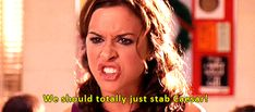"""""""We should totally just stab Caesar!"""" from the movie Mean Girls~I like Julius Caesar alot since the girly references:) Mean Girls Meme, Mean Girl 3, Mean Girls Day, Mean Girl Quotes, Girls 4, The Cw, Mean Girls Gretchen, Movie Quotes, Book Quotes"""