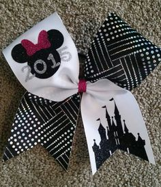 Cheer bow Summit or Worlds 2015 by CurlyNoodleCreations on Etsy