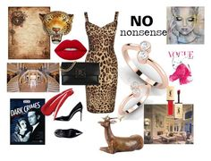 """""""no nonsense"""" by ascheron-jewels ❤ liked on Polyvore featuring Dolce&Gabbana, Home Source International, Lime Crime and Yves Saint Laurent"""