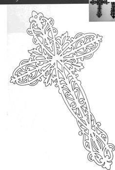 Fancy cross pattern - would also be good for embroidery or beading!