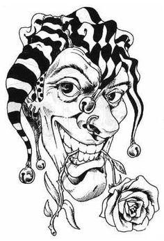 Clown Tattoo Drawing Designs | clown-tattoo-img72-tattoo-design