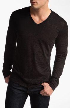 John Varvatos Star USA Long Sleeve V-Neck T-Shirt available at #Nordstrom