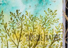 Layers of ink - Tree Journal Page by Anna-Karin Evaldsson