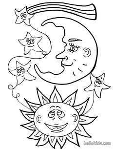 moon sun and moon coloring pages printables coloring pages - Coloring Pages Stars Moons