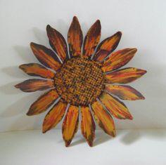Sculptured Metal Yard Art Metal Sunflower by northwindmetalart, $42.00