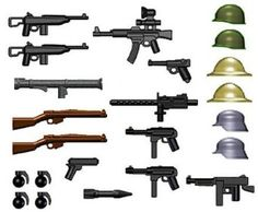 Amazon.com: BrickArms World War II Weapon Pack (24 Pieces) - LEGO Compatible Weapons: Toys & Games